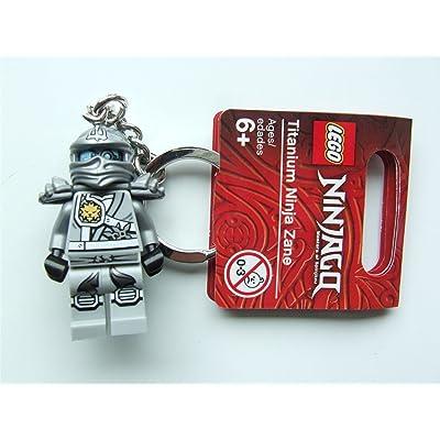 Ninjago Lego Titanium Zane Keyring - 851352: Toys & Games