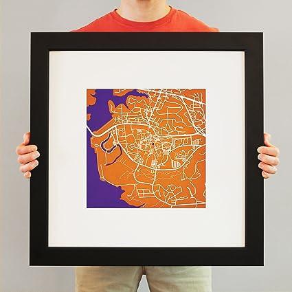 Amazon.com: Clemson University Campus Map Art, 23