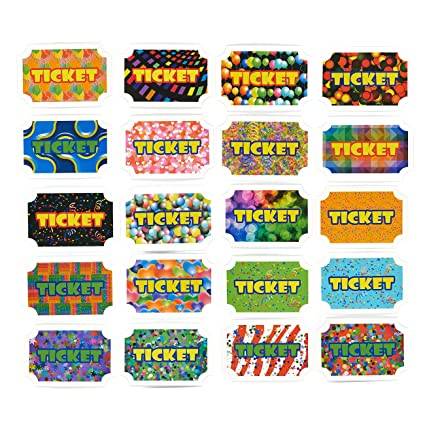 100 Pack Reward Tickets Prize Tickets Incentive For