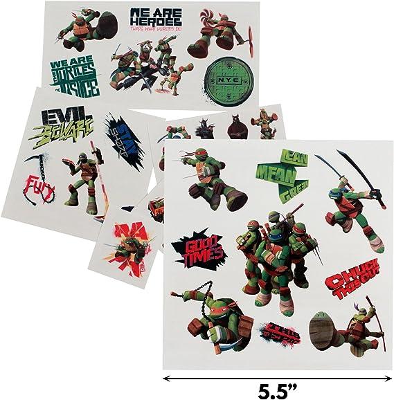KidPlay Products Teenage Mutant Ninja Turtles Temporary Tattoos 25pc Set Party Favor