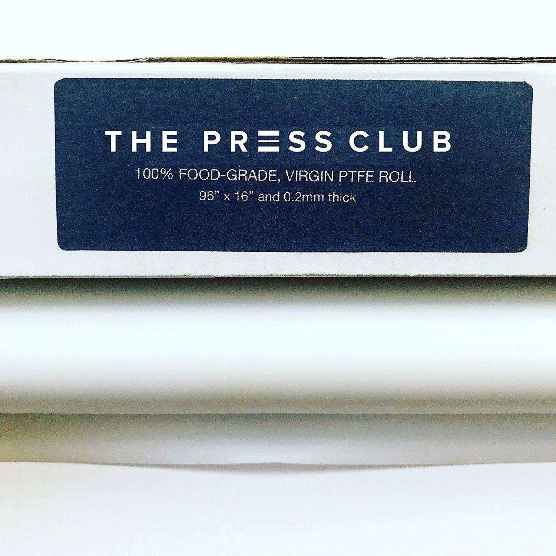 [2 Rolls in 1] Premium Super Slick PTFE Film Roll | 0.2mm Thick | 96'' x 16'' | 100% Virgin & Food-Grade | Solvent & Terpene Resistant | Parchment Paper Alternative