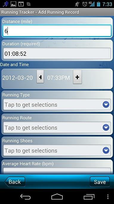 running tracker