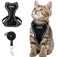 Cat Harness and Leash Set - Escape Proof Safe Cat Vest Harness for Walking Outdoor - Reflective Adjustable Soft Mesh…