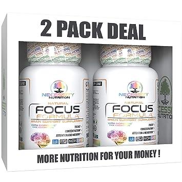 Amazon Com 2 Pack Brain Supplement Boost Focus Formula Best