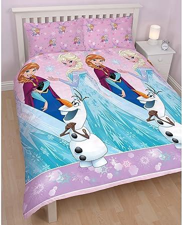 Copripiumino Matrimoniale Frozen.Disney Frozen Set Copripiumino Matrimoniale Con Federe Amazon
