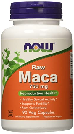 Now Foods Raw Maca 6:1 750mg Capsules - 90 Capsules Vitamins, Minerals & Supplements at amazon