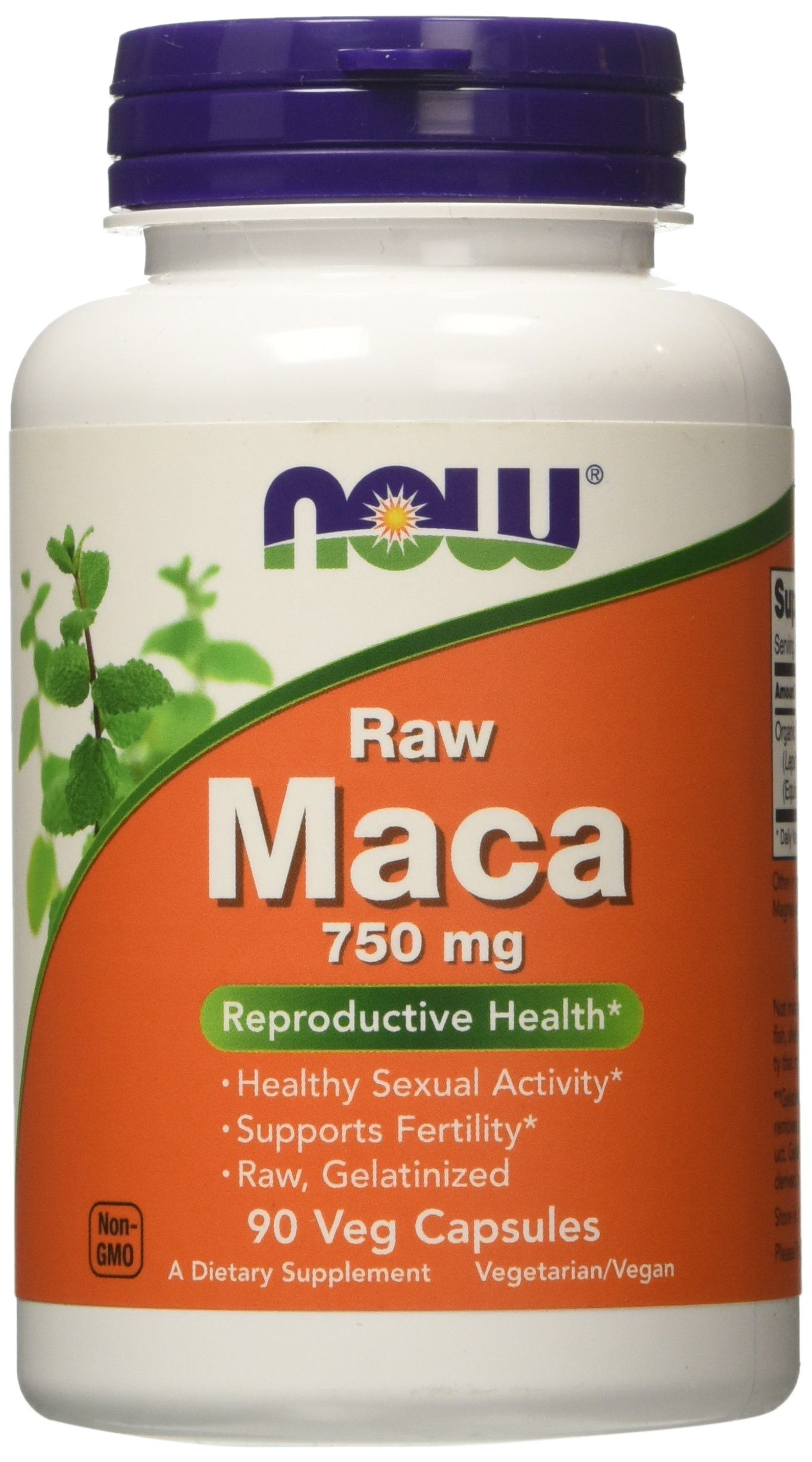 NOW Maca 750 mg Raw,90 Veg Capsules