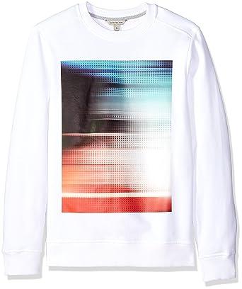 Calvin Klein Jeans Men s Athletic Collage Heat Transfer Crew Neck Sweatshirt e4972d61fc