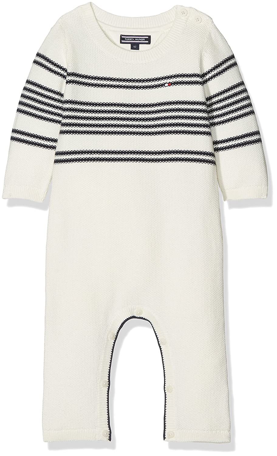 Tommy Hilfiger Placed Stripe Baby Coverall L/S, Polaina para Bebés KN0KN00709