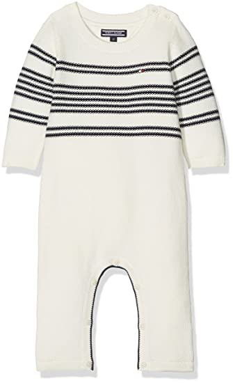 Tommy Hilfiger Placed Stripe Baby Coverall L S Footies  Amazon.co.uk   Clothing 07fec2c31483