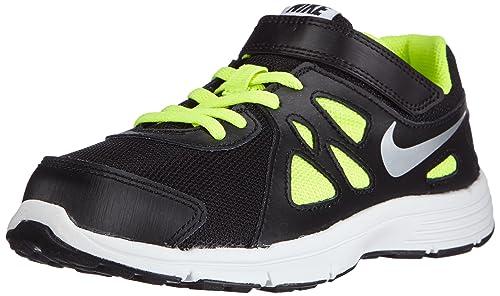 Nike Revolution 2 PSV - Zapatillas de Running para Niño, Color Negro/Gris/Lima/Blanco, Talla 32