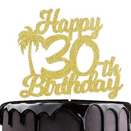 Decoración para tarta de 30 cumpleaños con brillantina ...
