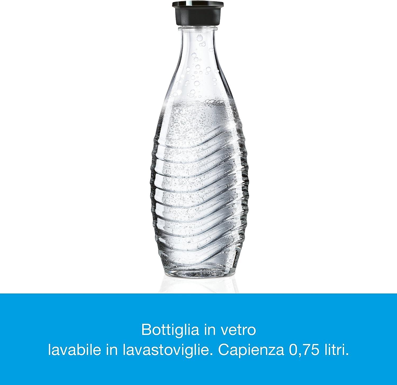Sodastream Crystal Bianco Gasatore dAcqua Frizzante Bottiglia in Vetro