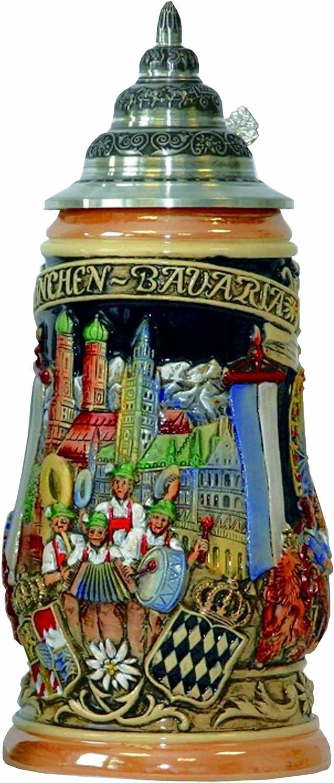 KING Jarra de Cerveza Alemana Munich Oktoberfest, Jarra 1 litro KI 503 1L