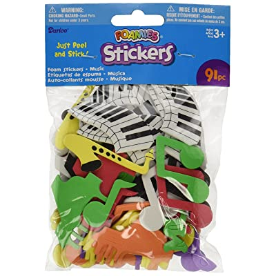 Foam Stickers 91/Pack, Music: Arts, Crafts & Sewing