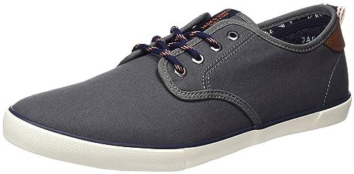 Mens Jfwtack Canvas Castlerock Low-Top Sneakers, Grey, 8 UK Jack & Jones