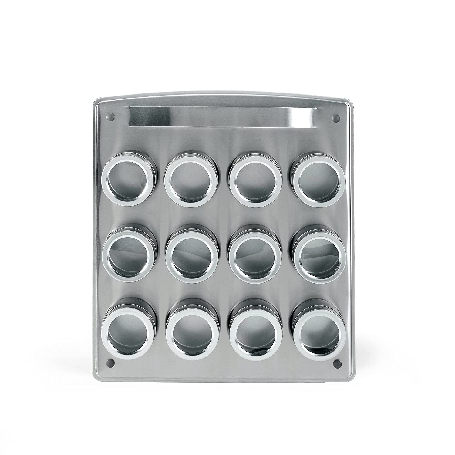 Amazon.com: Kamenstein Magnetic 12-Tin Spice Rack with Free Spice ...