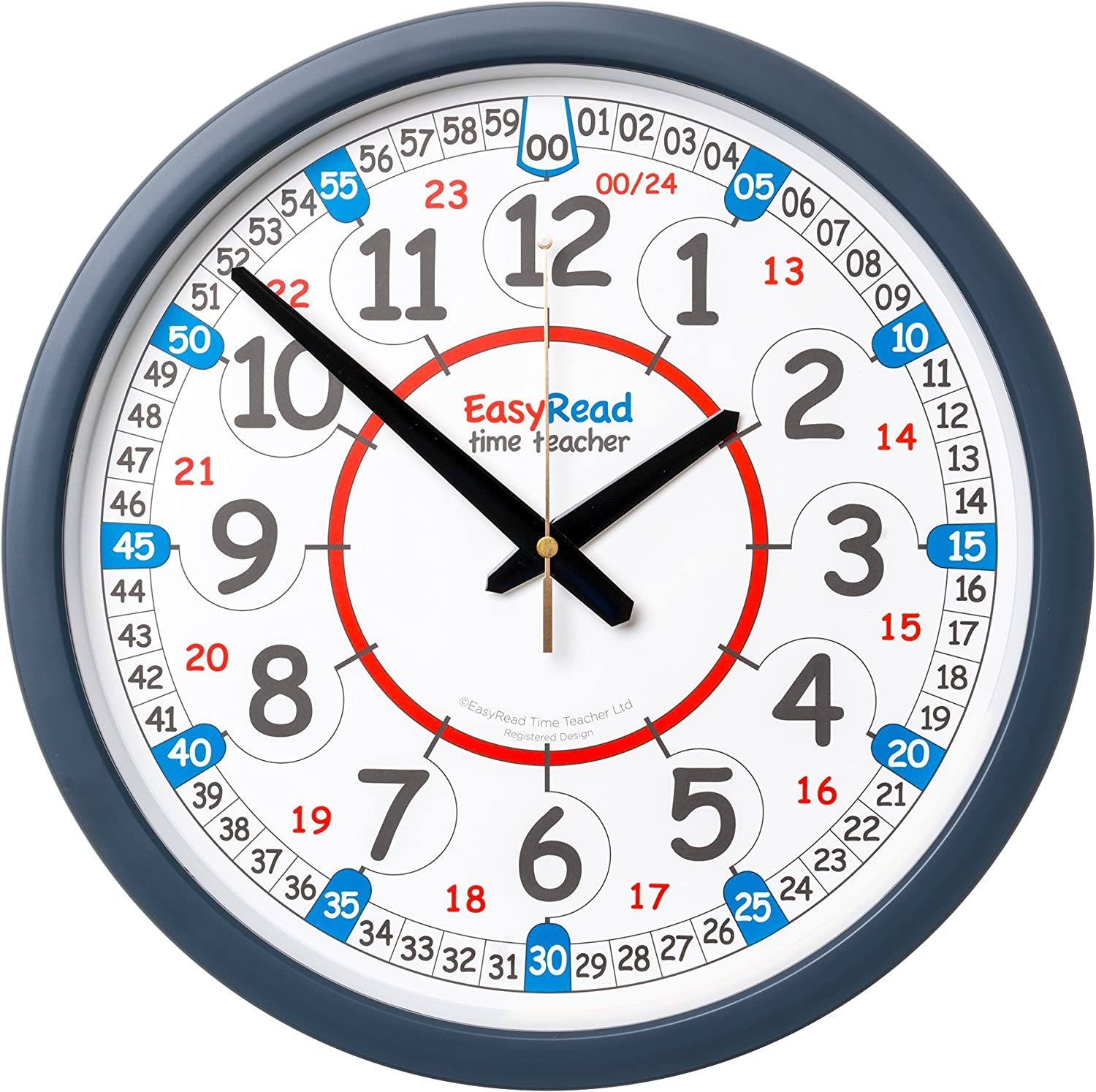 EasyRead Time Teacher Learn The Time School Classroom Wall Clock ERCC-DIG