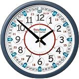 "EasyRead Time Teacher Children's Classroom Wall Clock showing 12 & 24 hour time, 14"" diameter"