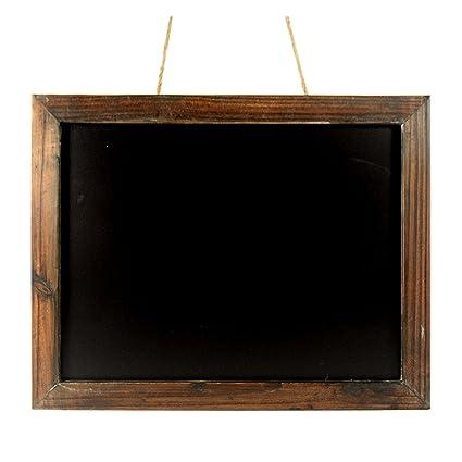 Envejecido marrón marco de madera pizarra - 19: Amazon.es ...