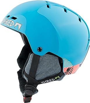 Shred Optics Noshock Snowboard, Esquiar Azul Casco de protección - Cascos de protección (Brillo