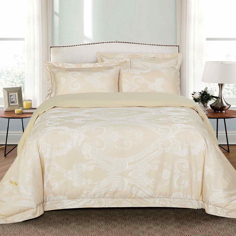 dm503q Dolce Mela寝具 – Regal、高級ジャカードクイーンサイズ羽毛布団カバーセット B076HTBLW1