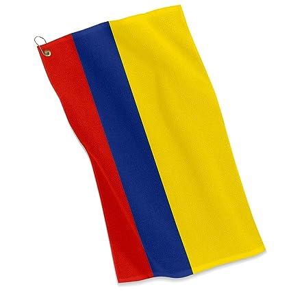 Amazon.com: Golf/ – Toalla deportiva (Bandera de Colombia ...