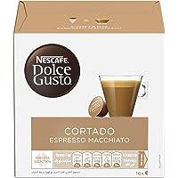 Nescafe Dolce Gusto Espresso Cortado Coffee Capsules (16 Capsules, 16 Cups)