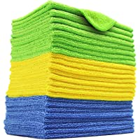 24 Pack Microfiber Cleaning Cloth, Extra Thick Microfiber Towel Absorbent Dust Cloths Lint Free Cloth for Car Kitchen…