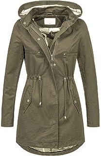 5a94a47d6c30 Golden Brands Selection Leichte Damen Jacke Übergangsjacke mit Kapuze Mantel  Parka Baumwolle S-XL B495