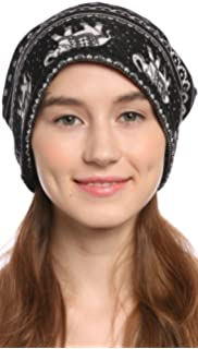 34e498955d8 Ababalaya Women s Soft 3-Way Elephant Warm Knitted Cotton Slouchy Beanie  Chemo Cap