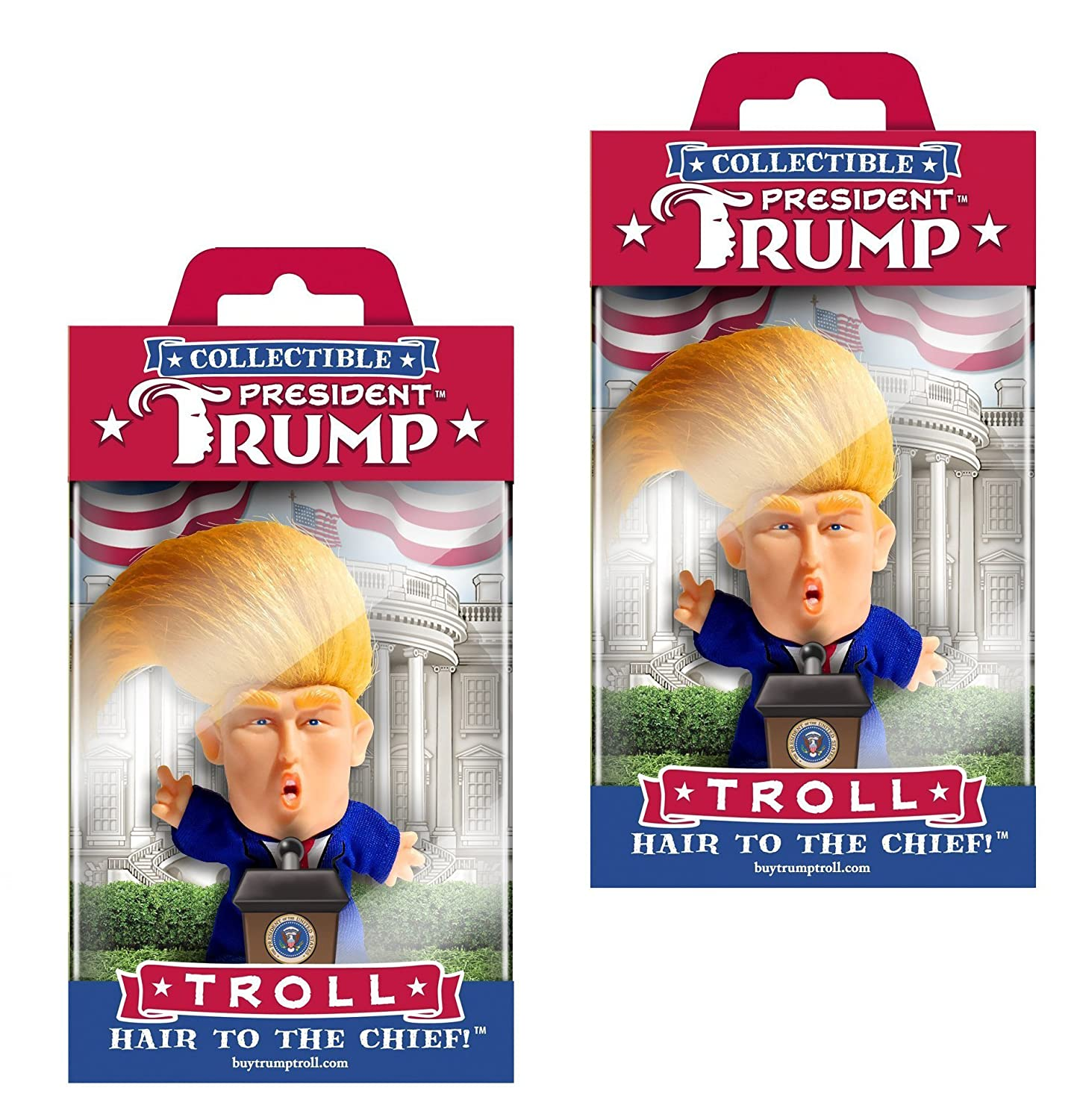 Collectible President Donald Trump Troll Doll - Hair to the Chief The Masters Design