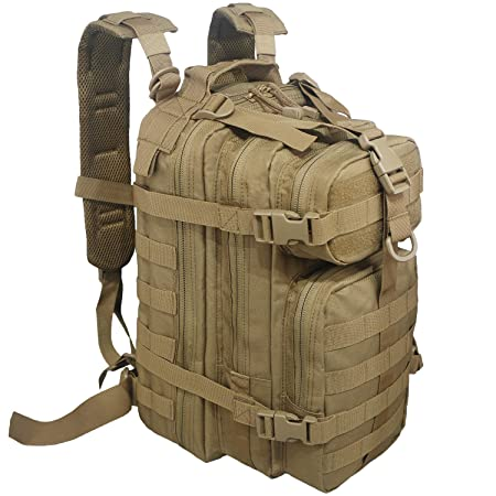 XWLSPORT Military Tactical Backpack Small 30L Assault Pack Moll Out Bag Army Waterproof Rucksack Great for Travel Camping Hiking Trekking Gym or Any Other Outdoor Activities