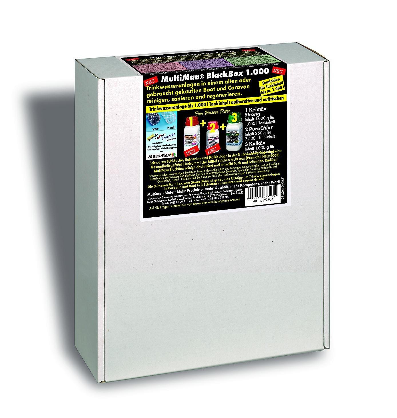 MultiMan, kit BlackBox, per la pulizia e il risanamento degli impianti di acqua potabile [etichetta in lingua italiana non garantita]