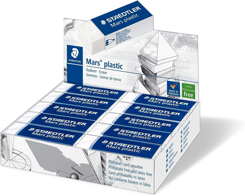 Staedtler Mars Plastic 526 50. Goma de borrar de color blanco ...