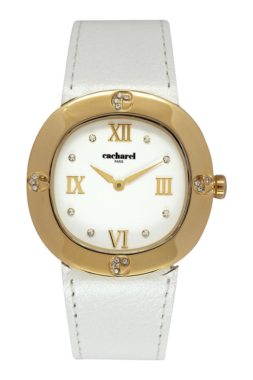 Cacharel Damen-Armbanduhr Analog Quarz Leder CLD 006-1BB