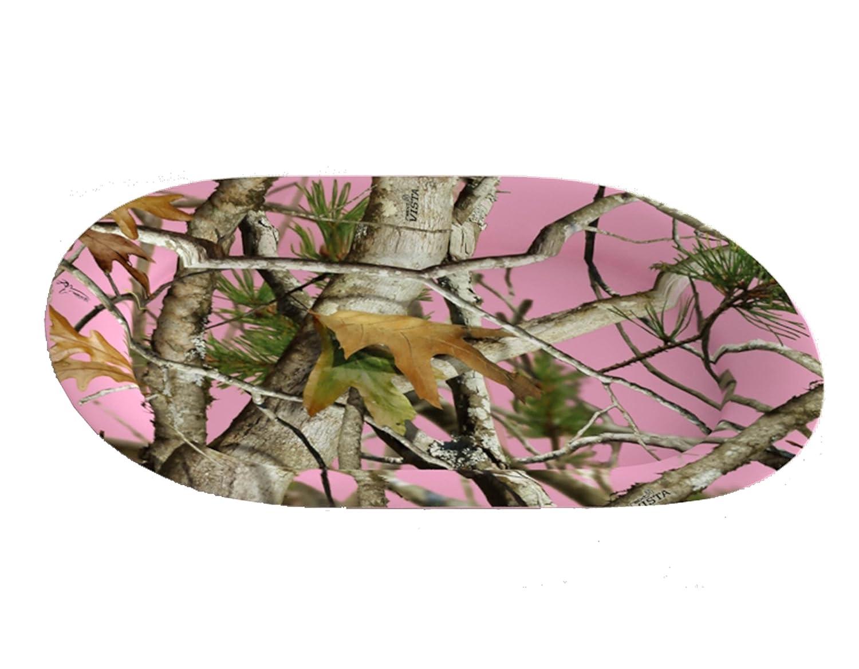 Havercamp サービングトレイ サービングプラッター ピンク迷彩 12 x 16インチ 楕円形 プラスチック ピンク迷彩パーティーコレクション   B077DHFBNB