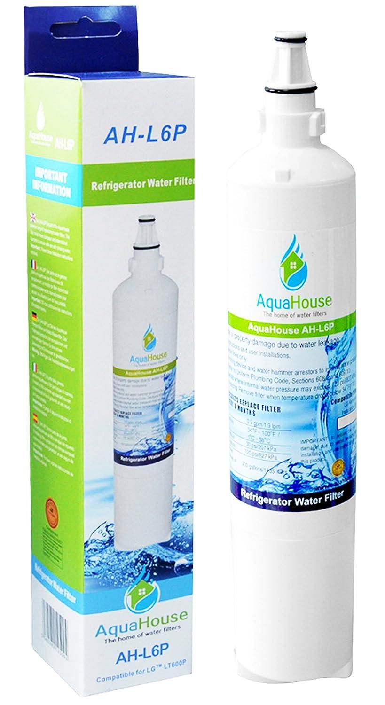 AquaHouse AH-L6P filtro de agua compatibles para LG nevera LT600P, 5231JA2006A, 5231JA2006B, 5231JA2006F