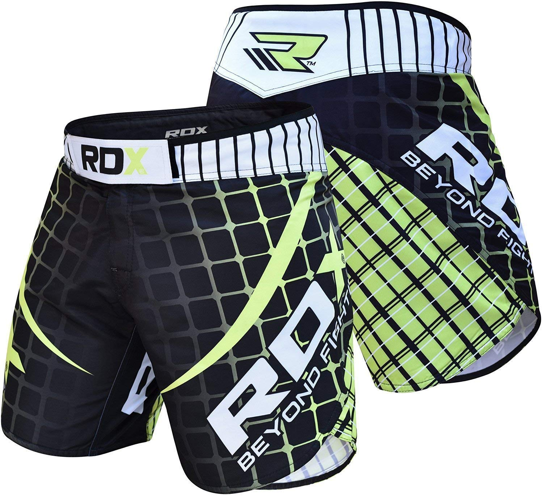 RDX MMA Pantalones Corto Boxeo Entrenamiento Muay Thai Shorts Running Fitness Kickboxing
