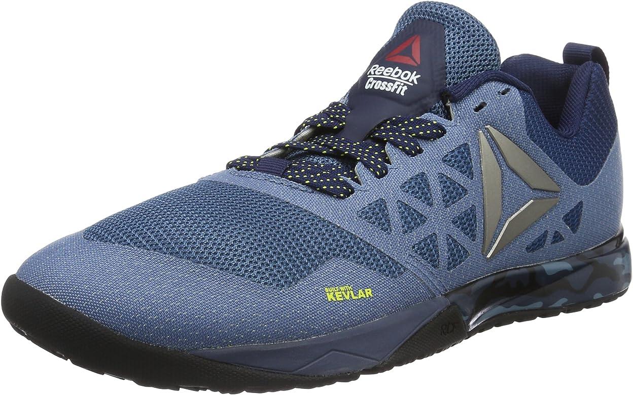 Reebok Crossfit Nano 6.0, Zapatillas Deportivas para Interior, Hombre, Azul (BD1165_39EU_ColNvy/RylSlate/HeroYlw/Bk), 46 EU: Amazon.es: Zapatos y complementos
