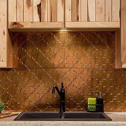 Amazon Com Fasade Easy Installation Monaco Muted Gold Backsplash