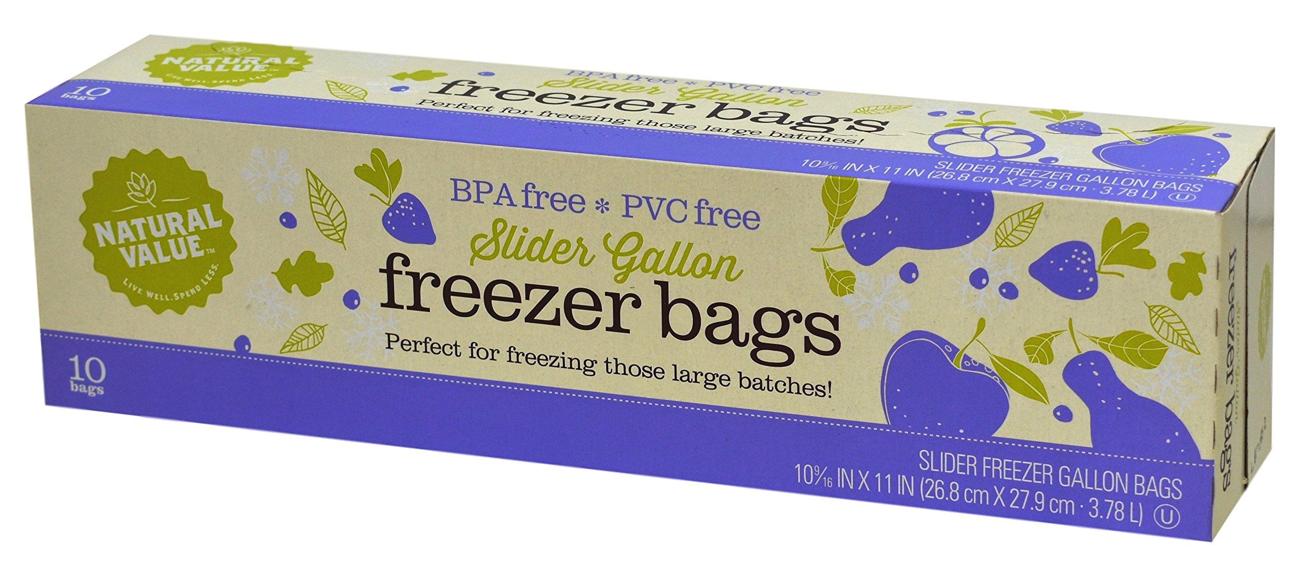 Natural Value Slider Freezer Bags, 10 count