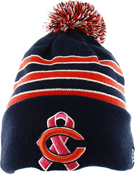 68e256c5c80 Image Unavailable. Image not available for. Color  Chicago Bears New Era  2013 NFL Sideline Breast Cancer Awareness Knit Hat