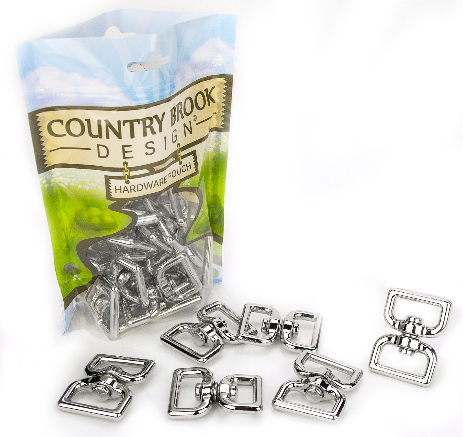 Country Brook Design 25-1 Inch Rectangle Double Eye Swivel Rings by Country Brook Design
