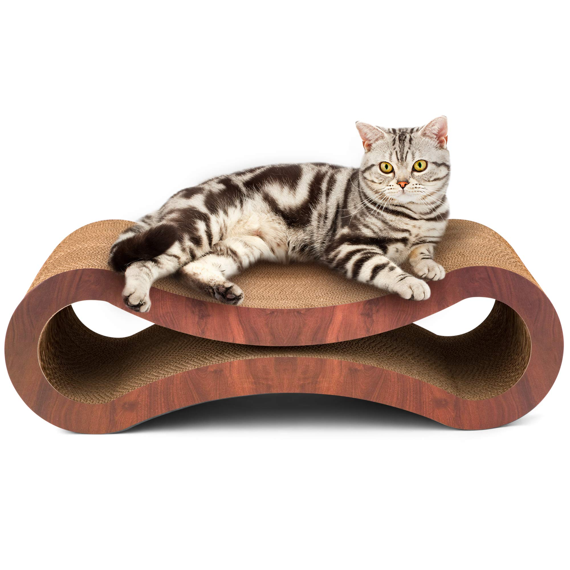 SPifTY Kitty Says 'I Own it and I Love it'! Cat Scratching Post Cat Tree Couch. Cardboard Cat Posts and Scratchers Durable Stylish Superior Comfortable EcoFriendly Cherrywood Cat Furniture by SPifTY