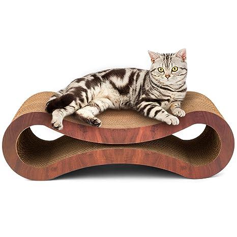 Amazon.com: Tumbona rascadora para gatos, cartón ondulado ...