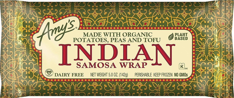 Amy's Indian Samosa Wraps Organic 5 Ounce Box
