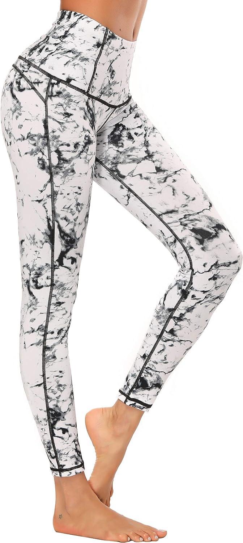 Leggins Yoga El/ásticos Running Cintura Alta El/ásticos X-HERR Mujer Pantalones Leggings Deportivos