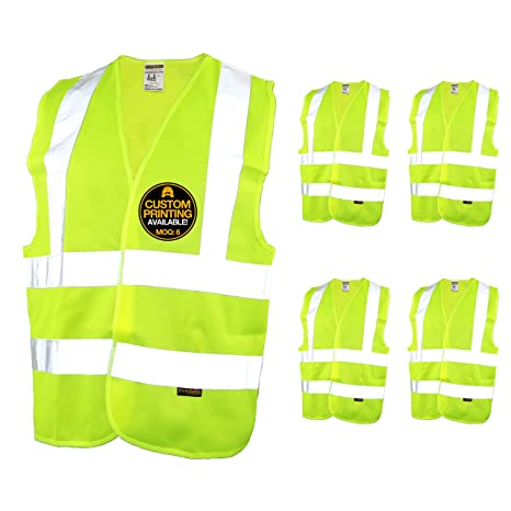 High Visibility Mesh Reflective Safety Vest Logo Printing Free Shipping Security & Protection Safety Clothing