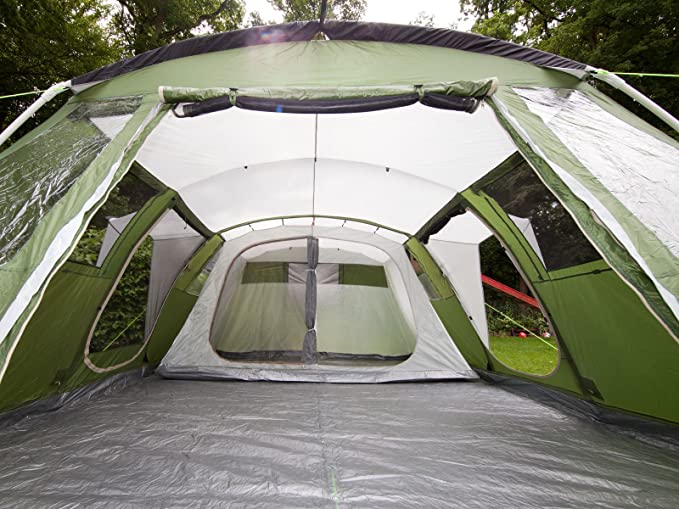 Skandika Nizza Family Tent - 6 Person, Green